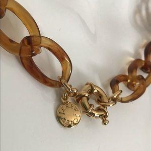 J. Crew Tortoiseshell Lucite Chain Link Necklace